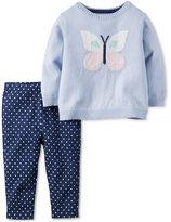 Carter's 2-Pc. Butterfly Sweater & Leggings Set, Baby Girls (0-24 months)