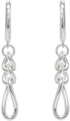 Chin Teo SSENSE Exclusive Silver Church Earrings