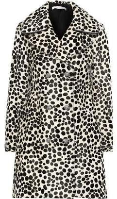 Philosophy di Lorenzo Serafini Double-breasted Leopard-print Calf Hair Coat