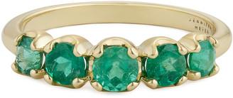 Jennifer Meyer Graduated Emerald Ring