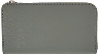 Maison Margiela Grey Large Zip-Around Wallet