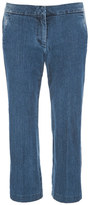 MICHAEL Michael Kors Women's Denim Crop Flare Jeans Huston Wash