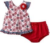 Nannette Baby Girl Floral Ruffle Top & Bloomers Set