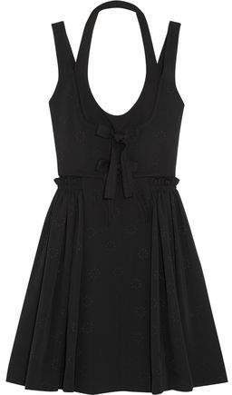 Givenchy Jacquard Mini Dress With Pleated Skirt