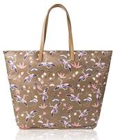The Lovely Tote Co. Women's Cranes Print Portable Shopper Bag