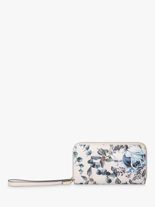 Fiorelli Finley Floral Medium Zip Around Purse, Titania