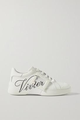 Roger Vivier Viv Skate Logo-print Leather Sneakers - White