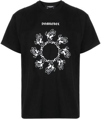 Dom Rebel rabbit-print T-shirt