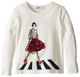Junior Gaultier Tee Shirt with Girl Girl's T Shirt