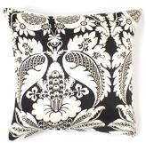 Damask in Ebony Linen Pillow