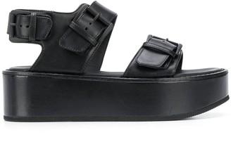 Ann Demeulemeester Buckled Platform Sandals