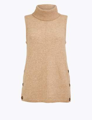 Marks and Spencer Wool Blend Sleeveless Jumper