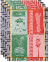 Garnier Thiebaut Garnier-Thiebaut Al Dente Rosso E Verde Cotton Kitchen Towels (Set of 4)
