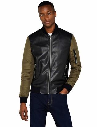 Find. Amazon Brand Men's Nylon Sleeve Bomber Jacket