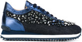 Le Silla crystal embellished trainers - women - Cotton/Leather/rubber - 36