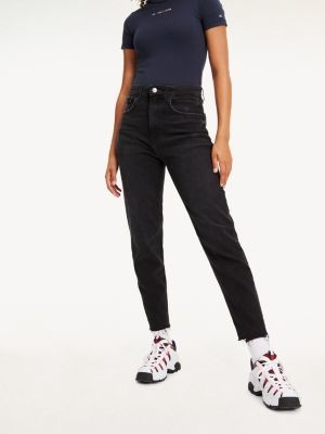 Tommy Hilfiger High Rise Tapered Mom Fit Jeans