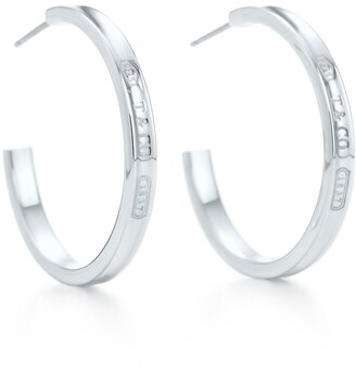 Tiffany & Co. 1837TM narrow hoop earrings in sterling silver