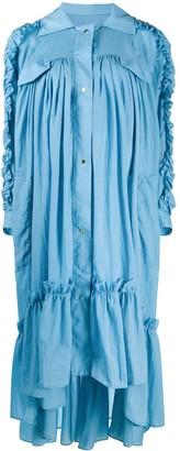 Brøgger Amanda ruffled dress coat