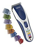 Wahl Color Pro Cordless Rechargeable Hair Clipper, 21 piece Color Coded Hair Cutting with 12 guide combs and soft storage case