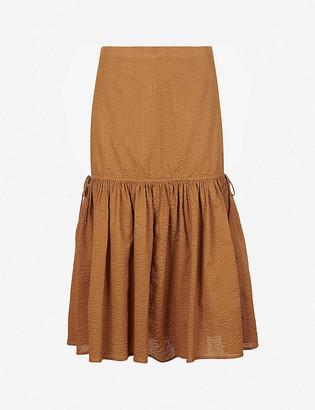 Marysia Swim Seashell drop-waist cotton midi skirt