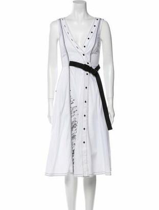 I'M Isola Marras V-Neck Midi Length Dress w/ Tags White