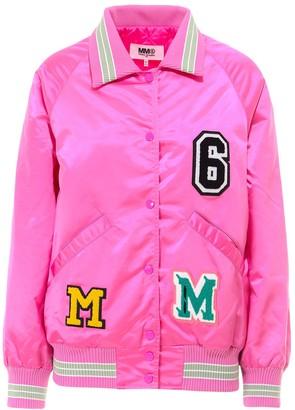 MM6 MAISON MARGIELA Logo Patchwork Bomber Jacket