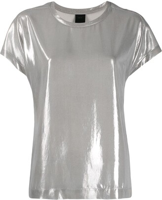Pinko short sleeve metallic T-shirt