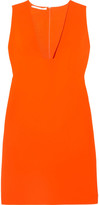Stella McCartney Stretch-cady Mini Dress - Orange