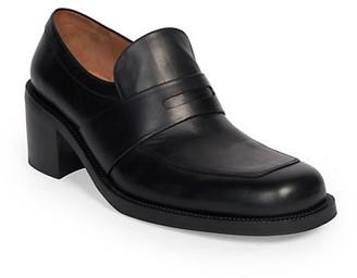 Dries Van Noten Heeled Leather Loafers