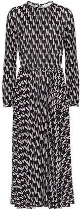 Valentino Printed stretch-crepe midi dress