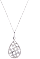 Rina Limor Fine Jewelry Women's Sterling Silver & 0.25 Total Ct. Diamond Teardrop Geometric Pendant Necklace