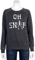 "Grayson Threads Juniors' Grayson Threads ""Oh Snap"" Skeleton Graphic Top"