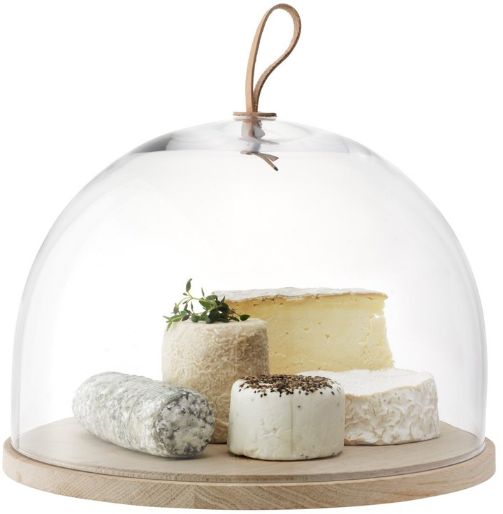 LSA International 32cm Ivalo Cake/Cheese/Pastries Dome on Ash Base