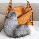 "DEETTO 100% real fox tail keychain 16"" - 18"" long"