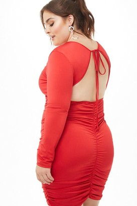 Forever 21 Plus Size Open-Back Ruched Dress