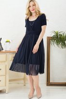 Sweet Mommy Flair Tulle Maternity and Nursing Dress BKM