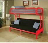 ACME Furniture Eclipse Red Twin Over Full Metal Futon Bunk Bed