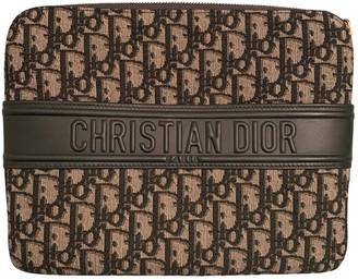 Christian Dior Grey Cloth Clutch bags