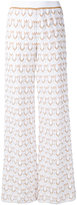 Missoni woven palazzo pants - women - Cotton/Polyester/Cupro - 42