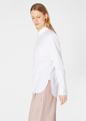 Paul Smith Women's White Shirt With 'Artist Stripe' Cuff Lining