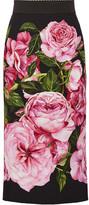 Dolce & Gabbana Floral-print Crepe Pencil Skirt - IT36