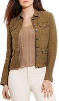 Lauren Ralph Lauren Plus Linen Herringbone Jacket
