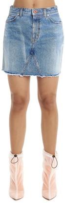 Heron Preston Frayed Mini Skirt