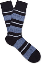 Pantherella Apsley Striped Cashmere-Blend Socks