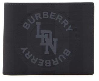 Burberry London-check Logo-print Bi-fold Leather Wallet - Mens - Grey