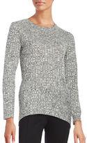 Ivanka Trump Crewneck Textured Ribbed Sweater