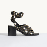 Maje Heeled sandals with studs