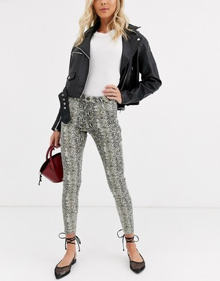 B.young snake print jeans