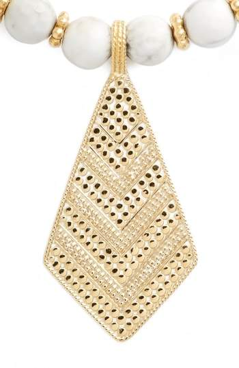 Anna Beck Howlite Beaded Pendant Necklace