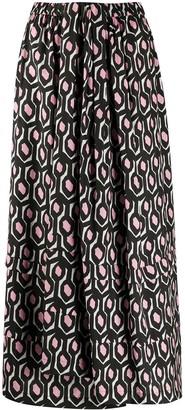 Christian Wijnants geometric print A-line skirt